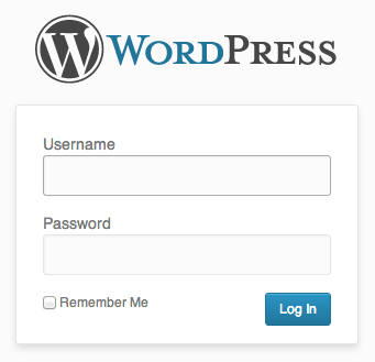 Login to WordPress admin panel